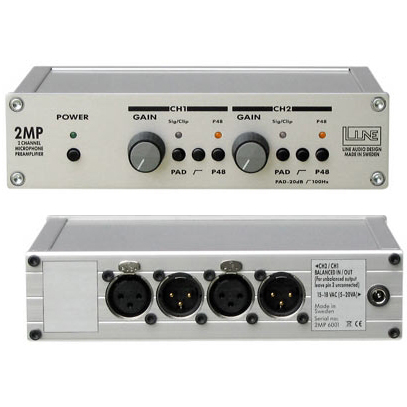 Line Audio Design 2MP 2-kanalig micpreamp