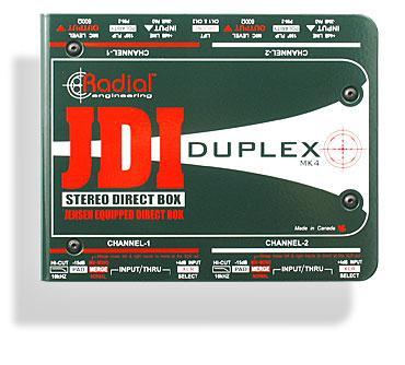 Radial JDI Duplex passiv stereo DI-box