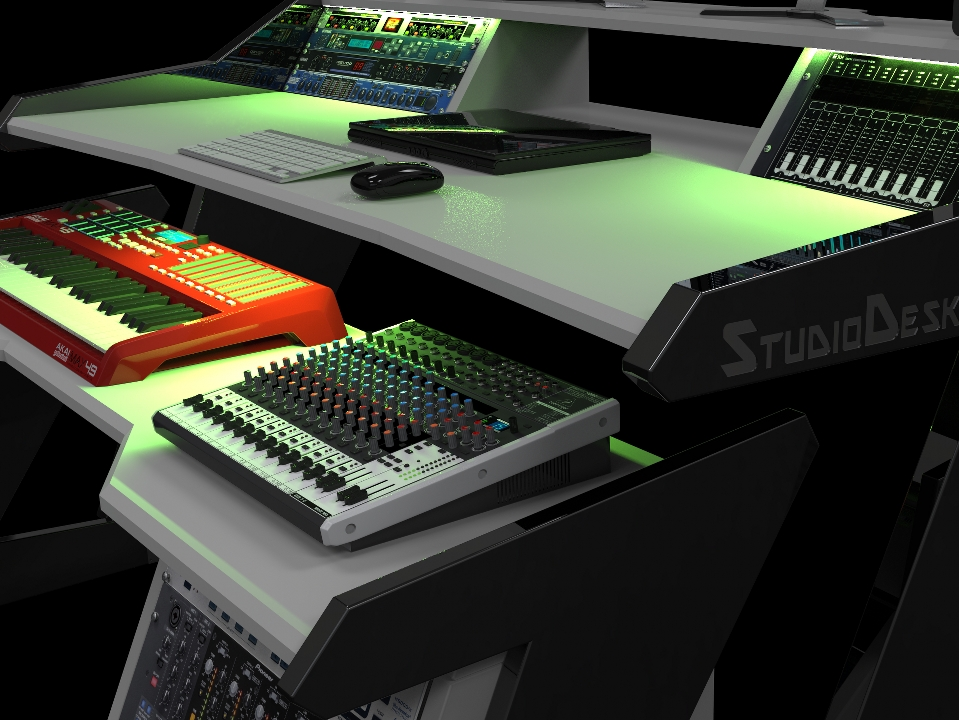 StudioDesk RGB LED Light option