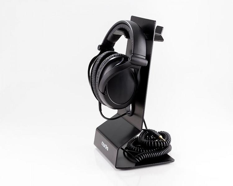 NUNKI Hörlursställ aluminium bordsplacerat - Headphone stand aluminum