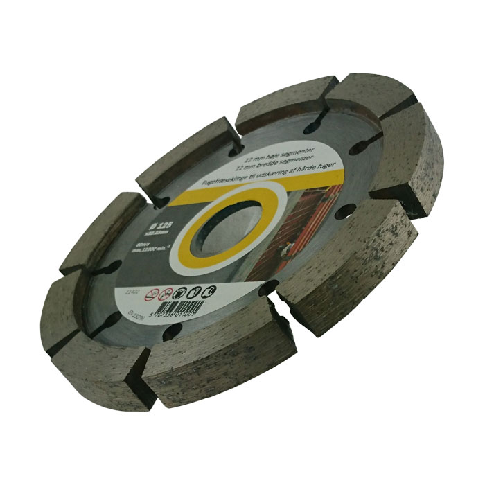 Fogfräs skiva till vinkelslip  12mm bred 125mm diameter. 5st