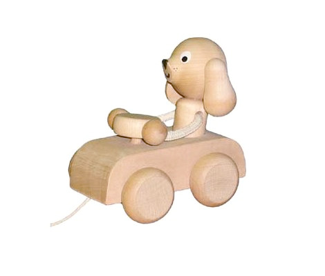 Bob - the wooden pullalong dog