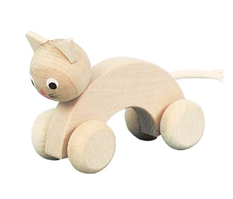Kathy - eco wooden cat on wheels