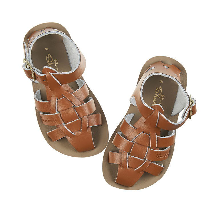 Salt-water sandals, Tan, Shark 21-27
