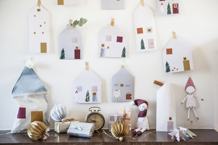 Christmas Calendar with Paper Bags - In Fairy Town