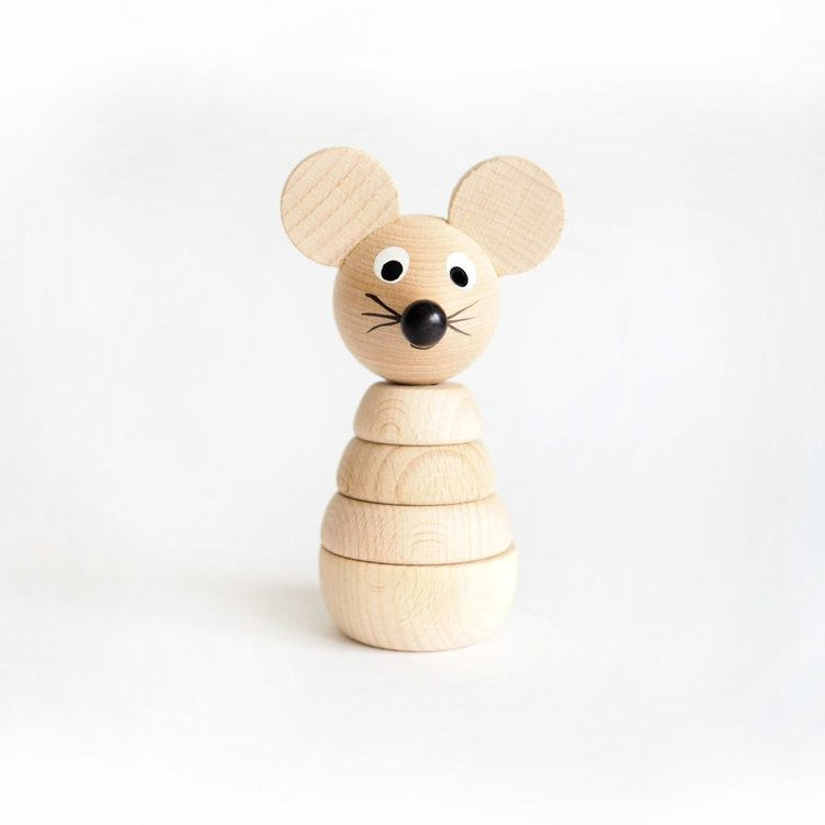 Winnie - Eco wooden stacking mouse