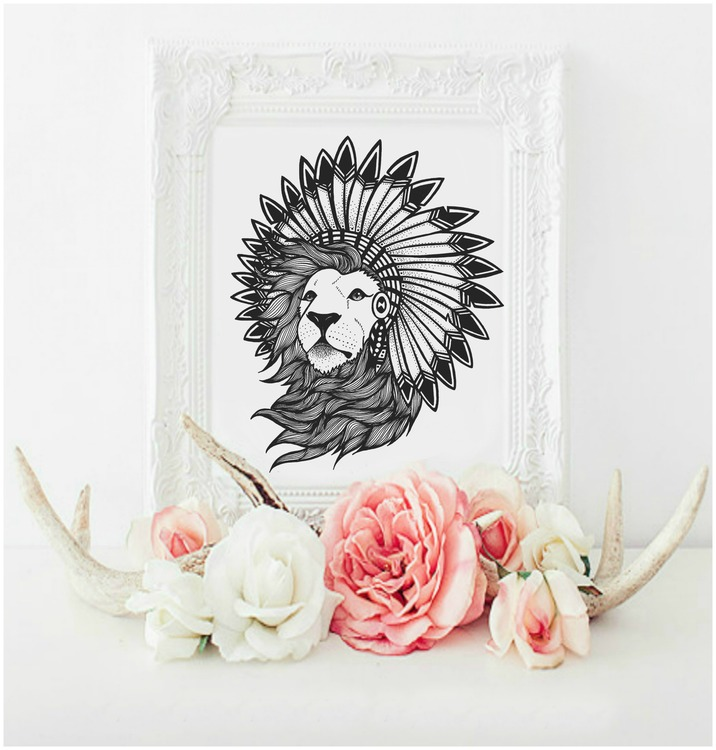NEW: Monsieur Lion Louie A3