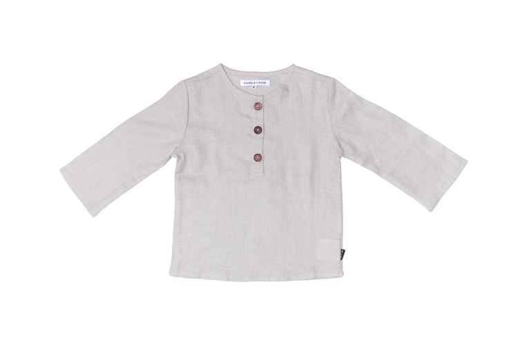Jasper Shirt in Oat Linen