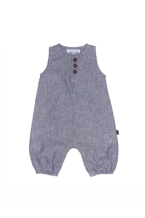 Indi play suit - Pinstripe