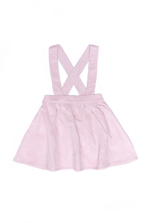 Greta Pinafore Skirt Blush Cord