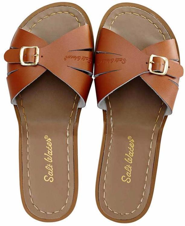 Slides tan, Adult Salt-water sandals