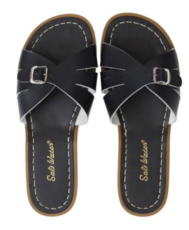 Slides Black , Adult Salt-water sandals