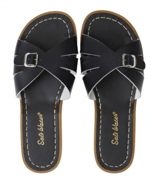 Slides Black , Adult Salt-water sandals