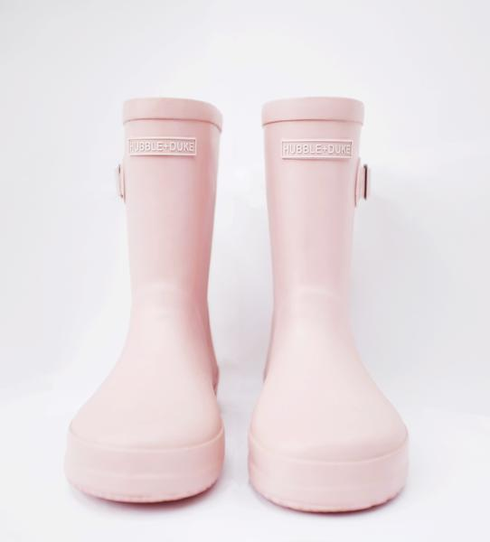 Blush pink Gumboots, Hubble & Duke