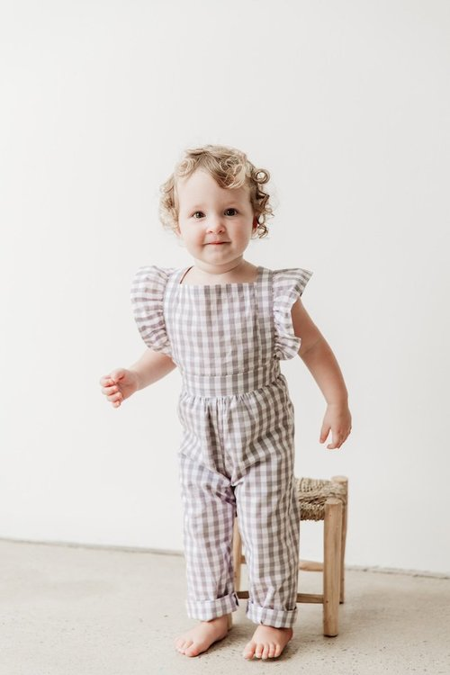 Grey Gingham Playsuit