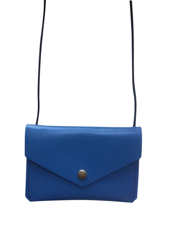 Leather envelope purse, Blue