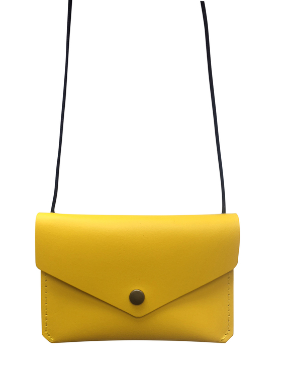 Leather envelope purse, Yellow