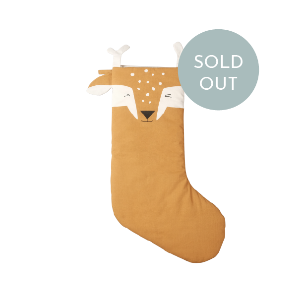 NEW!  Christmas Stocking silly fawn, Fabelab
