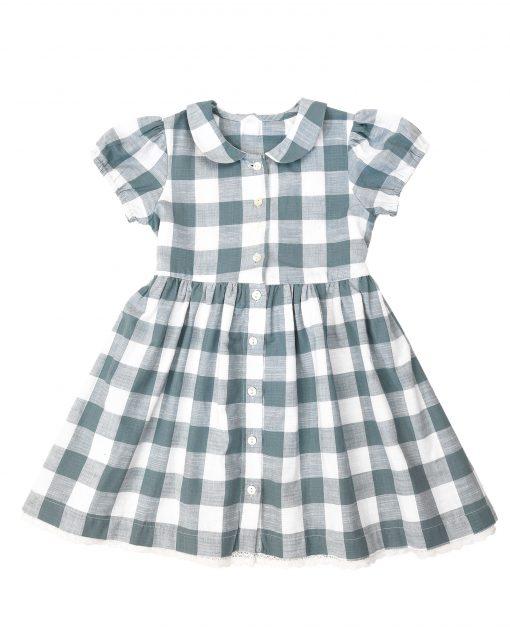 Audrey Dress – blue textured gingham