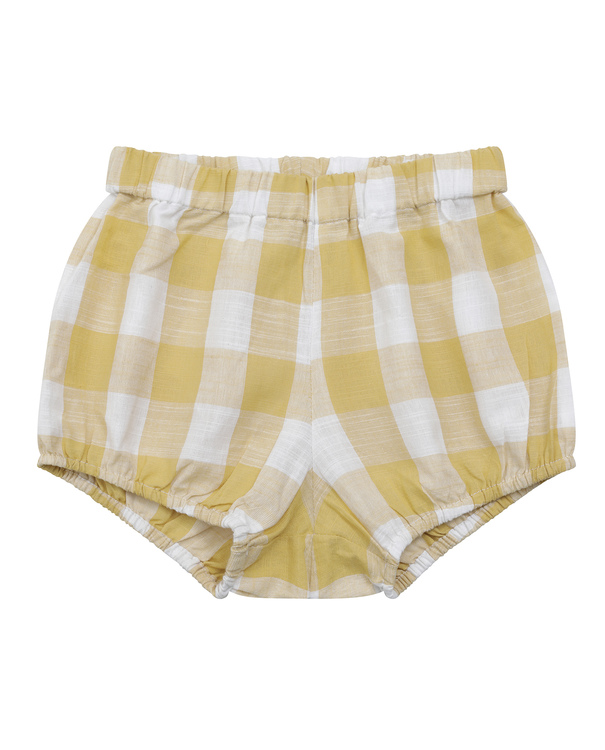 Poppy Bloomers – custard textured gingham
