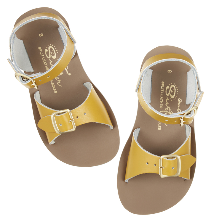 NEW: Salt-water Sandals, Surfer, Mustard yellow EU22-33