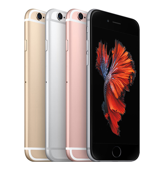 iPhone 6S, 64GB, silver, skick B, saknar touch-ID