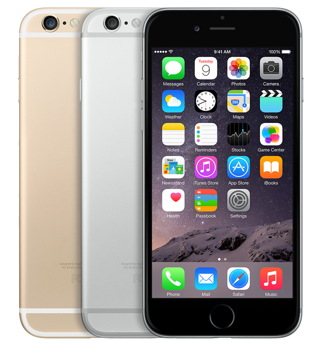 iPhone 6, 64GB, silver, skick C, saknar touch-ID