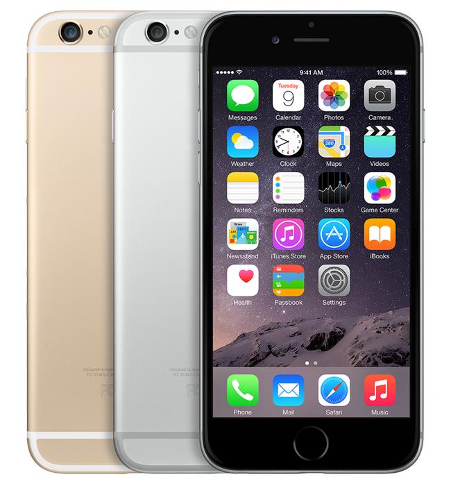 iPhone 6, 16GB, guld, skick C, saknar touch-ID