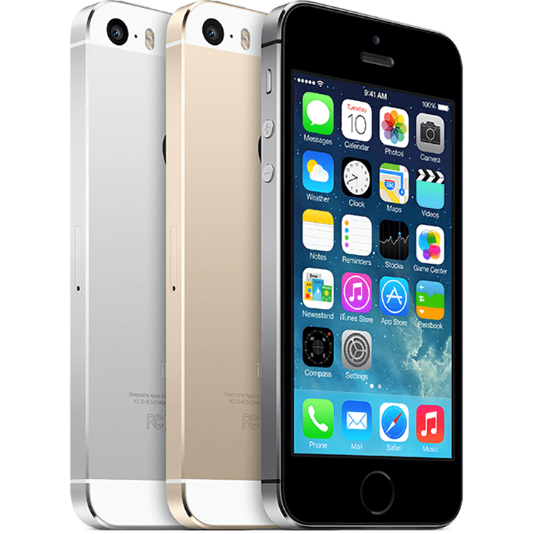 iPhone 5S, 16GB, Silver, Skick C, Saknar touch-ID