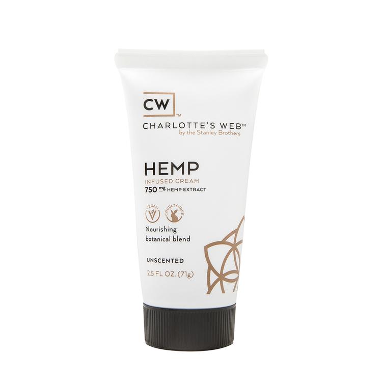 Charlotte's Web Hudkräm - 750 mg hampaextrakt, 74 ml, oparfymerad