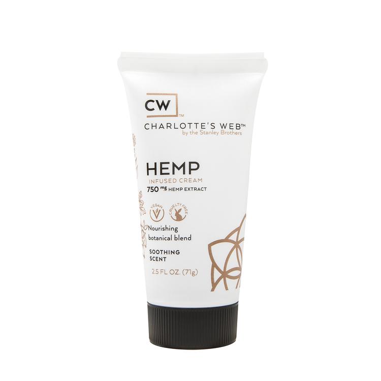 Charlotte's Web Hudkräm - 750 mg hampaextrakt, 74 ml, lugnande doft