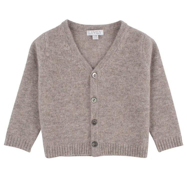 Livly Cashmere Cardigan Oat