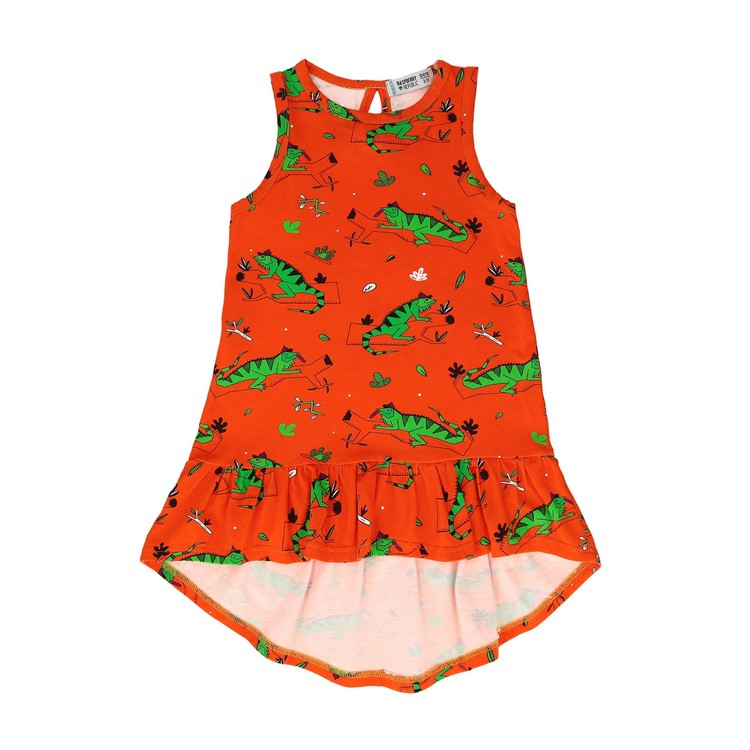 Raspberry Republic Dress – Ignacio the Iguana Red