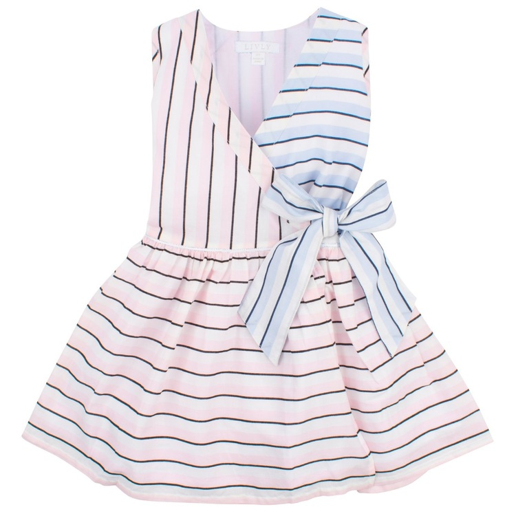 Livly Libby Dress Block Candy Stripes