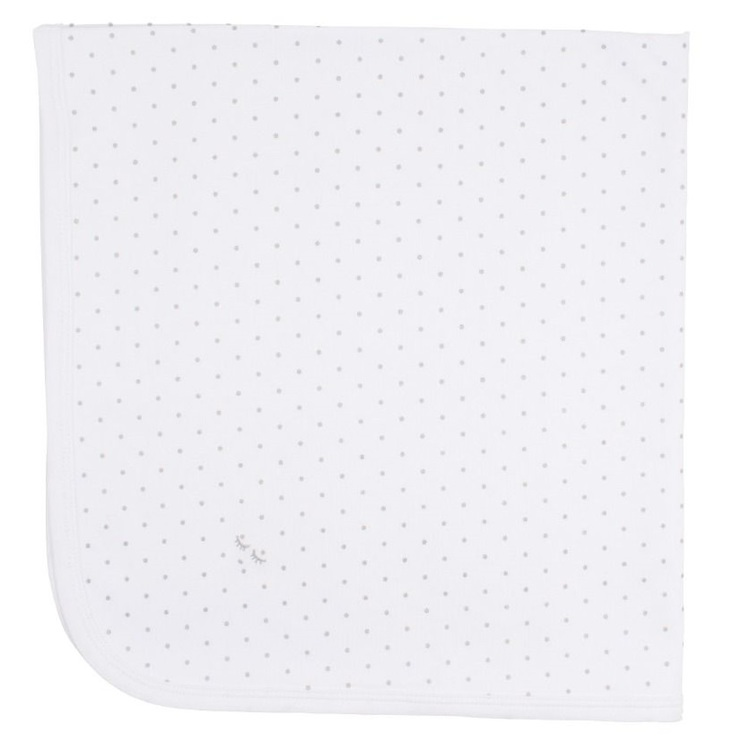 Livly Saturday Blanket White/Silver Dots