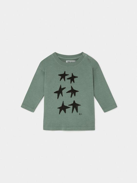 Bobo Choses Stars Long Sleeve T-Shirt Iceberg