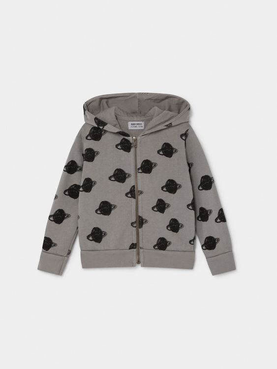 Bobo Choses All Over Big Saturn Hooded Sweatshirt Drizzle