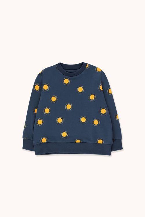 TINYCOTTONS Sun Sweatshirt Light Navy/Yellow