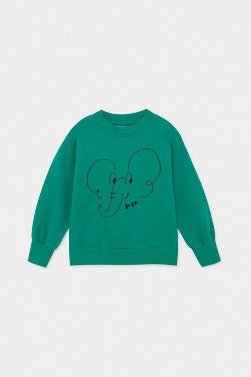 BOBO CHOSES Elephant Sweatshirt Cadmium