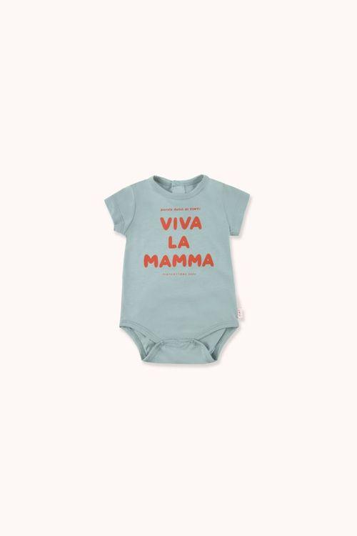 TINYCOTTONS Viva la Mamma Body Sea green/Red