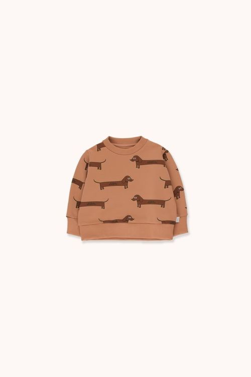 TINYCOTTONS Il Bassotto Sweatshirt Tan/Dark Brown