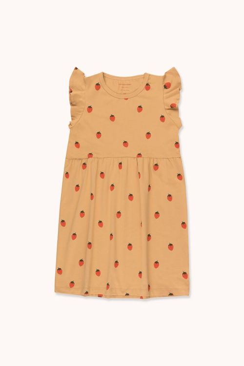 TINYCOTTONS Strawberries Dress Toffee/Red