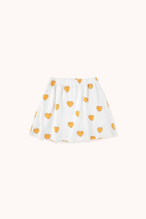 TINYCOTTONS Hearts Skirt Off-White/Yellow