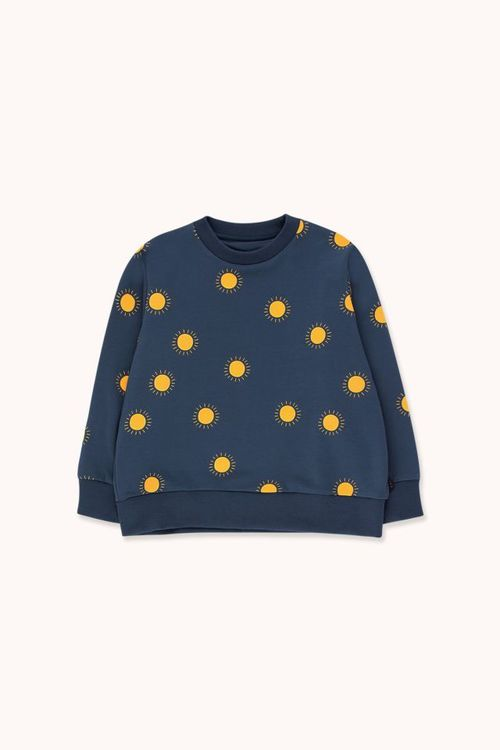 "TINYCOTTONS Sun"" Sweatshirt Light Navy/Yellow"