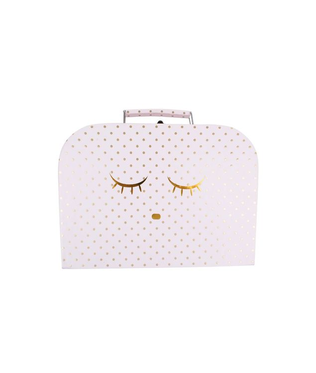 Livly Medium Sleeping Cutie Trunk Pink/Gold Dots