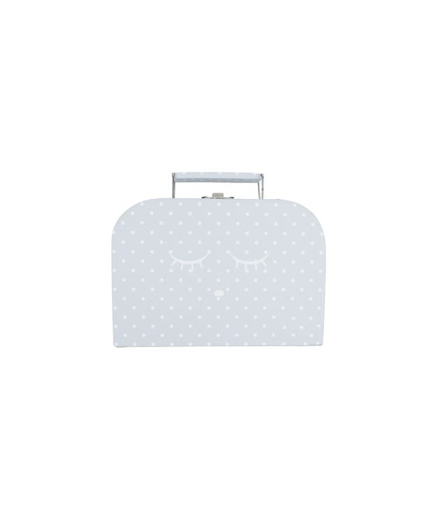 Livly Small Sleeping Cutie Trunk Grey/White Dots