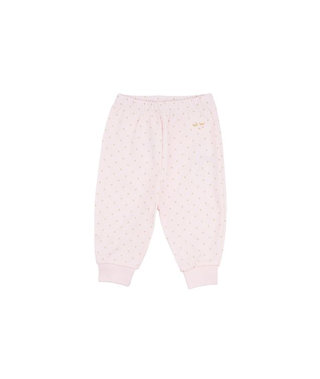 Livly Saturday Pants Baby Pink/Gold Dots