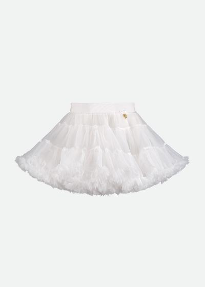 Angel's Face Charm Tutu Skirt White
