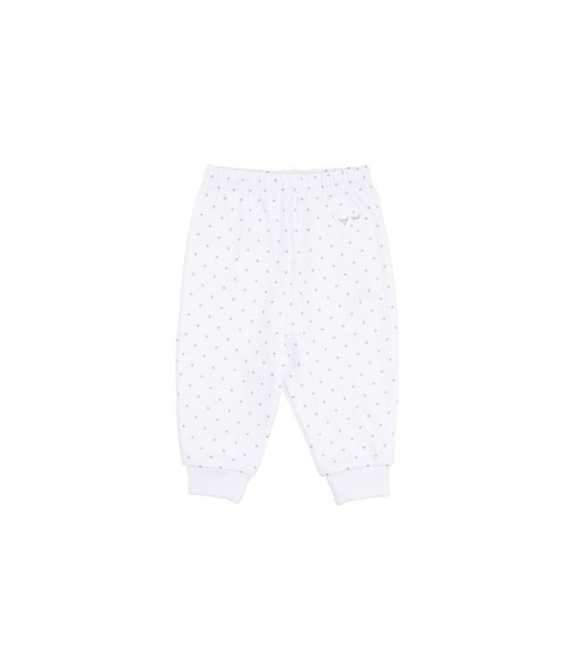 Livly Saturday Pants White Silver Dots