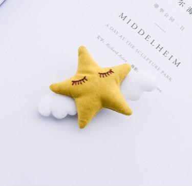 Hårspännen Stjärna Gul
